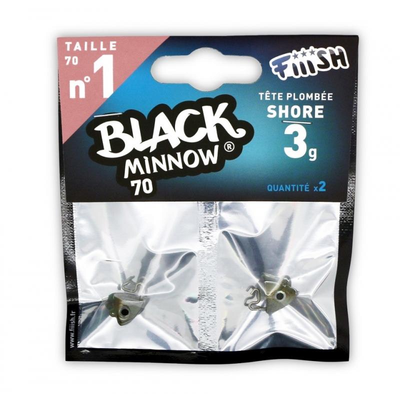 TÊTE PLOMBEE FiiiSH BLACK MINNOW 7 cm