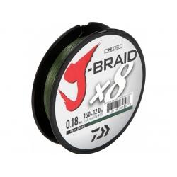 TRESSE DAIWA J BRAID X 8 VERTE150 - 300 - 500 - 1500 M